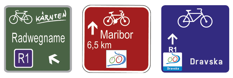 Bicycle route marking